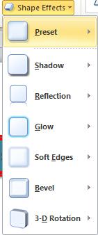 hiệu ứng cho đối tượng để làm nổi bật với Shape Effects