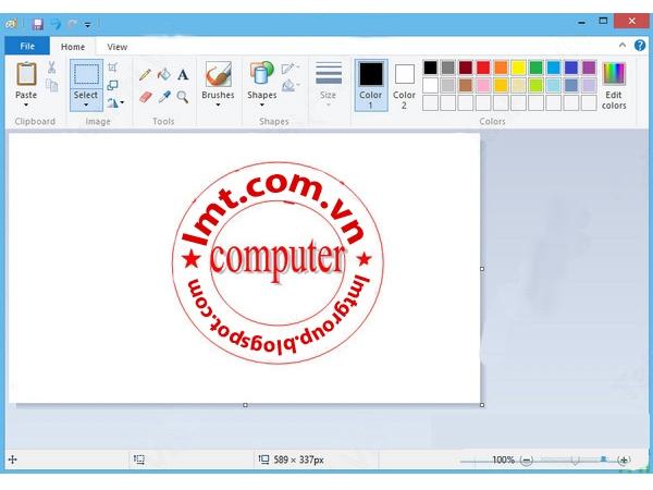 Tạo logo, con dấu đơn giản bằng Word và Paint 1