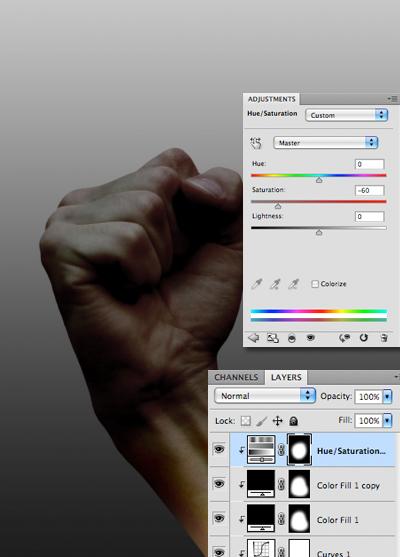cách làm tối một hình ảnh trong photoshop
