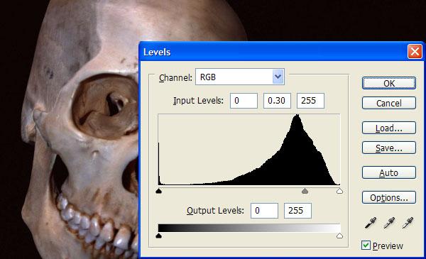 Điều chỉnh Levels