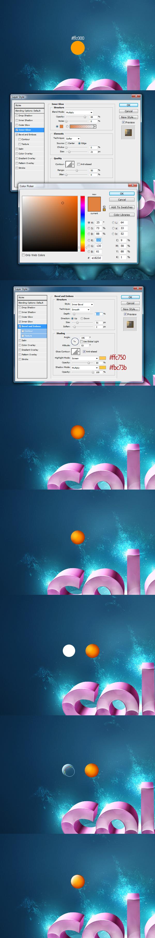 Các quả cầu màu