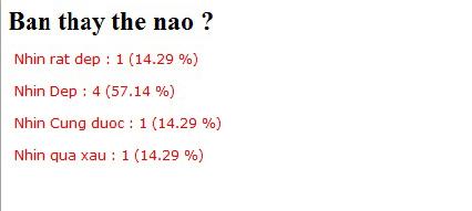 Xây dựng trang kết quả bình chọn result.php