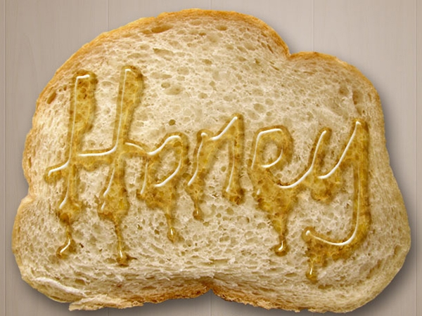 Hiệu ứng viết chữ bằng mật ong lên bánh mì nướng (phần 2) 6