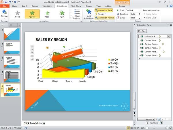 Tạo hiệu ứng hoạt hình cho nội dung Slide với chức năng Customs Animation 3