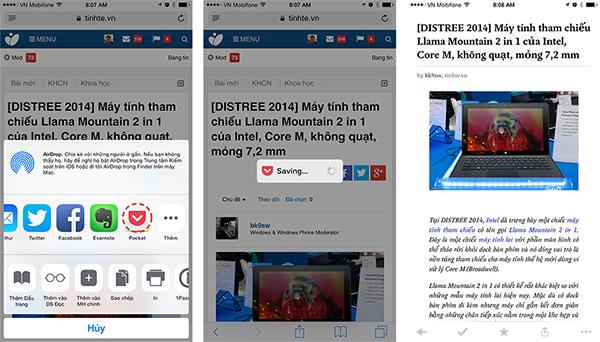 8 ứng dụng có khả năng tận dụng tốt Extension của iOS 8