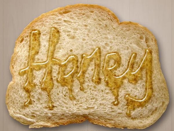 Hiệu ứng viết chữ bằng mật ong lên bánh mì nướng (phần 1) 7