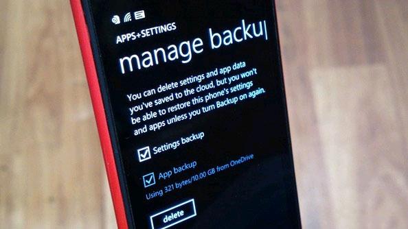 Hướng dẫn cách sao lưu và khôi phục dữ liệu trên Windows Phone 8.1