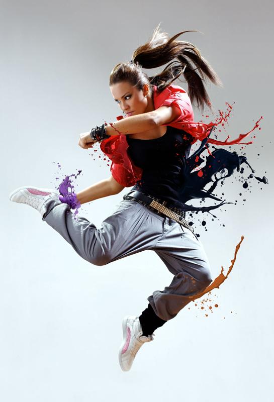 Tạo hiệu ứng chất lỏng tung tóe từ người vũ công