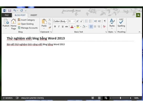 Hướng dẫn tạo bài viết dạng blog trên word 2007 và 2013 1