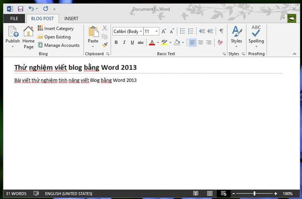 Hướng dẫn tạo bài viết dạng blog trên word 2007 và 2013