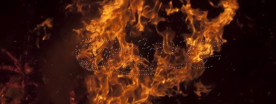 Tạo chữ được bao quanh bởi ngọn lửa