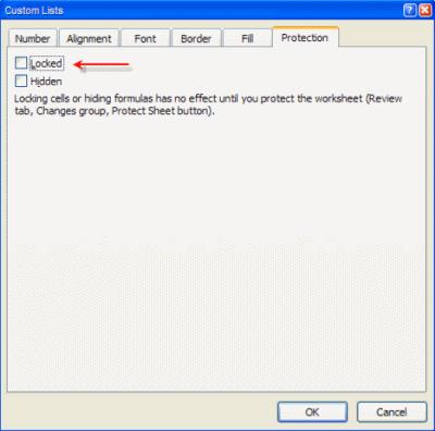 Khóa và bảo vệ những ô có chứa công thức trong Excel 2010