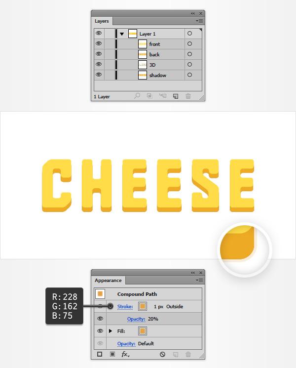 Tạo hiệu ứng chữ bằng pho mát chi tiết trong Adobe Illustrator (Phần 1)