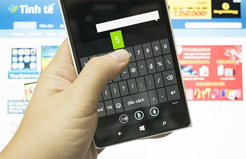 Thủ thuật hay với bàn phím của Windows Phone 8