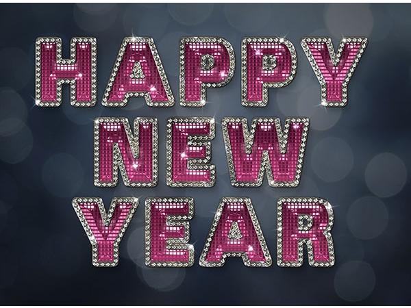 Tạo hiệu ứng chữ năm mới lấp lánh, quyến rũ trong Adobe Photoshop (Phần 2) 1