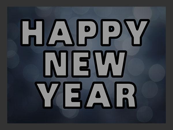 Hướng dẫn tạo hiệu ứng chữ năm mới lấp lánh, quyến rũ bằng photoshop ( phần 1)