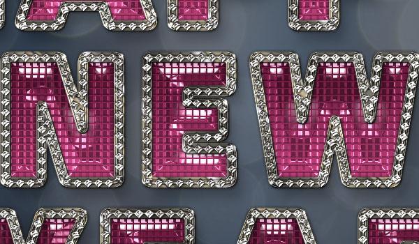 Tạo hiệu ứng chữ năm mới lấp lánh, quyến rũ trong Adobe Photoshop
