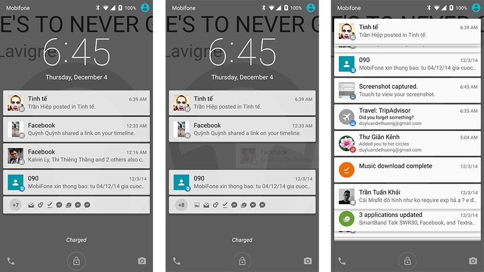 Khai thác tối đa tính năng thông báo trên Android 5.0 Lollipop