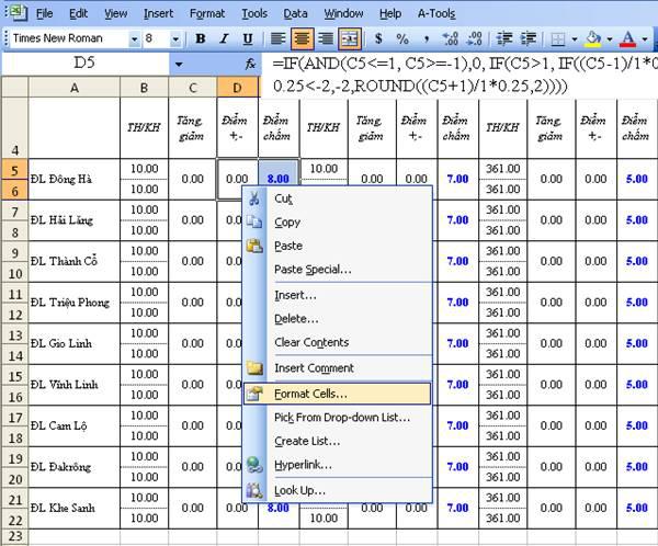 2 bước đơn giản để tạo khóa dữ liệu trong các ô của Excel