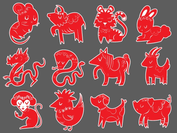 Cách tạo một bộ biểu tượng 12 con giáp trong Adobe Illustrator (Phần 1) 12