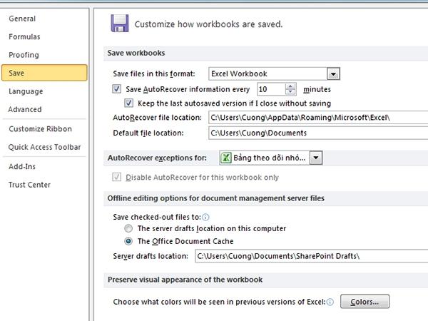 Hướng dẫn cách thay đổi thời gian tự động trên Excel 3