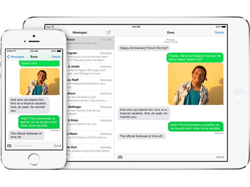 Khám phá chức năng nhắn tin bằng Messages trên iOS 8 1