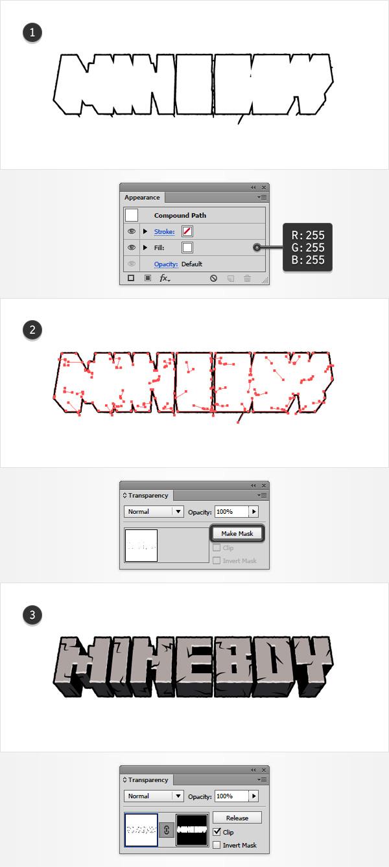 Cách tạo một hiệu ứng chữ Minecraft nhanh trong Adobe Illustrator