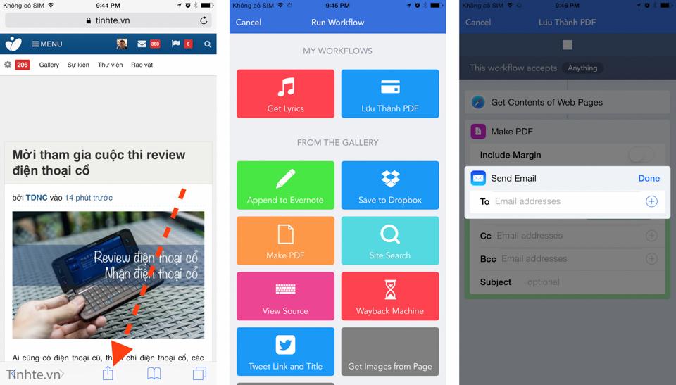 Hướng dẫn sử dụng Workflow trên iOS 8