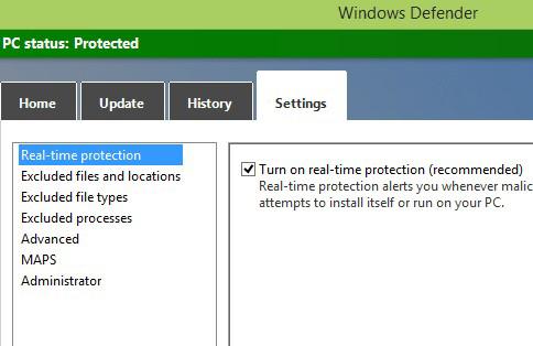 Các bước sử dụng Microsoft Windows Defender trong Win 8 và Win 10