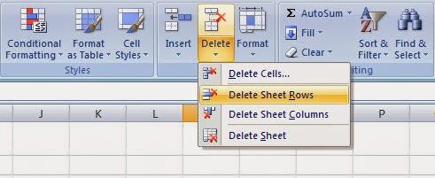 Các cách xóa dòng trống đơn giản trong Excel 2007, 2010, 2013