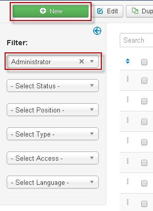 Hiển thị thông tin Control Panel trong Joomla