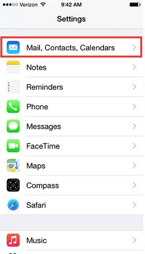 Hướng dẫn đồng bộ danh bạ iphone lên gmail