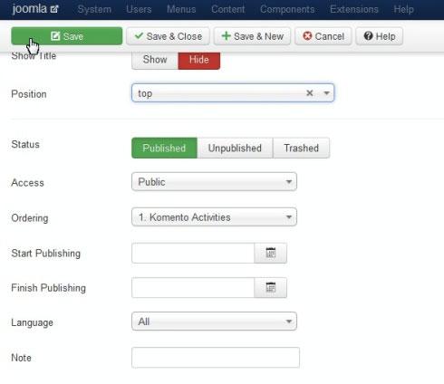 Lựa chọn ngôn ngữ hiển thị cho Joomla 3.x