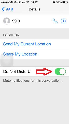 Tắt thông báo tin nhắn nhóm trong messages trên ios 8