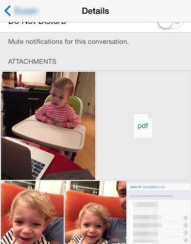 Xem tất cả hình ảnh, video trong cuộc hội thoại trong messages trên ios8