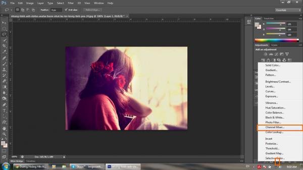 Hướng dẫn khử màu nóng trên ảnh bằng Photoshop CS6 4