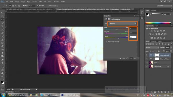 Hướng dẫn khử màu nóng trên ảnh bằng Photoshop CS6 8