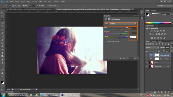 Hướng dẫn khử màu nóng trên ảnh bằng Photoshop CS6 9