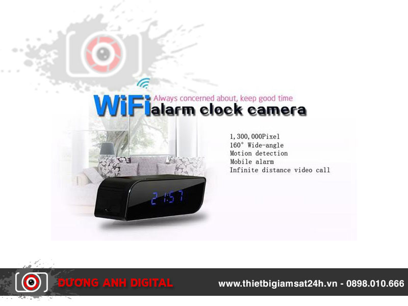 Đồng hồ camera wifi Full HD T11