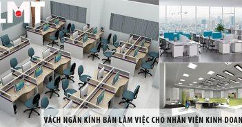 Mẫu vách ngăn kính bàn làm việc cho nhân viên kinh doanh