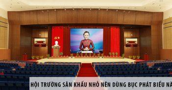 Thiết kế hội trường sân khấu nhỏ nên dùng bục phát biểu nào? 25