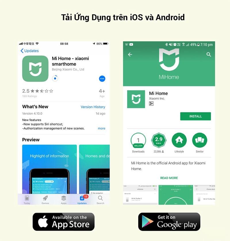 Cài đặt Mi Home trên IOS và Android