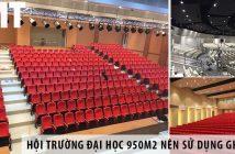 Thiết kế hội trường đại học 950m2 nên sử dụng ghế gì?