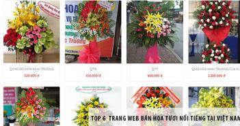 Top 6 trang web bán hoa tươi nổi tiếng tại Việt Nam