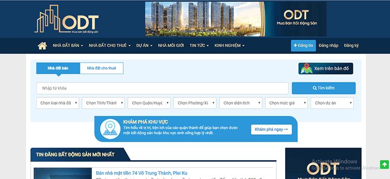 Odt.vn là 1 trong những website đăng tin mua bán nhà đất hiệu quả tại Ninh Thuận