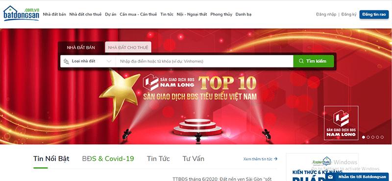 Batdongsan.com.vn là 1 trong những website đăng tin mua bán nhà đất hiệu quả tại Ninh Thuận