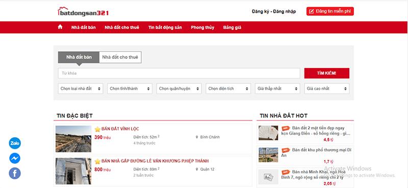 BatDongSan321.com là 1 trong những website đăng tin mua bán nhà đất hiệu quả tại Ninh Thuận