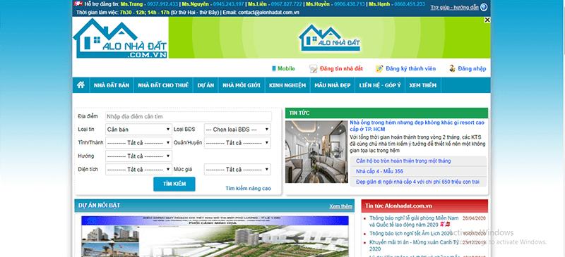Alonhadat.com.vn là 1 trong những website đăng tin mua bán nhà đất hiệu quả tại Ninh Thuận