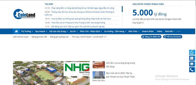 Cafeland.vn là 1 trong những website đăng tin mua bán nhà đất hiệu quả tại Ninh Thuận