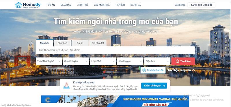 Homedy.com là 1 trong những website đăng tin mua bán nhà đất hiệu quả tại Ninh Thuận